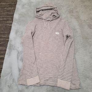 💙 Billabong blue striped gray sweatshirt hoodie